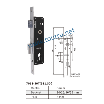 Keyless sliding door hook lock