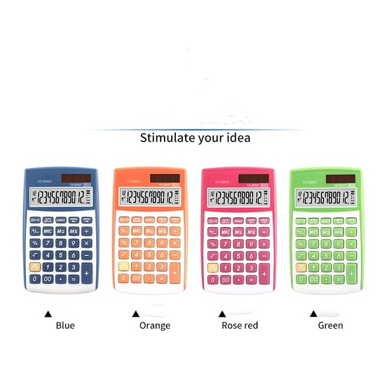 112 steps handheld calculators with Rubber