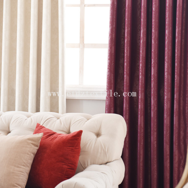 Embossed blackout window curtain fabric