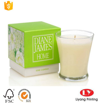 Luxury candle packaging box with offset printing