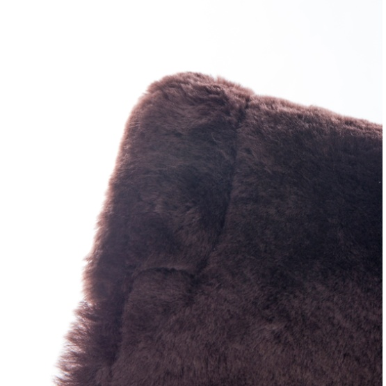 Brown Sheepskin quilted saddle pad blanket