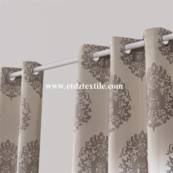 Jacquard Flower Pattern Of Window Curtain