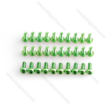 M3x6mm colored button aluminum screws