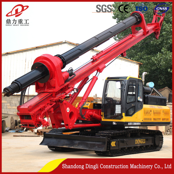Customized rig for 20m concrete foundation engineering