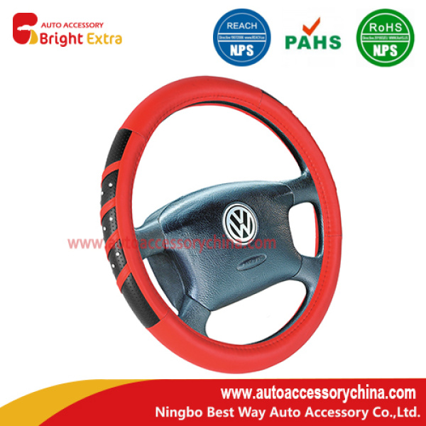 Diamond Red Steering Wheel Cover