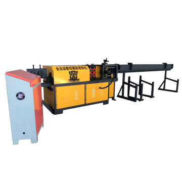 Automatic hook straightening steel bar machine