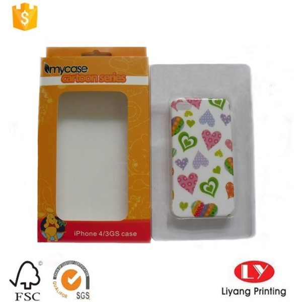 hanging paper phone packaging box with window