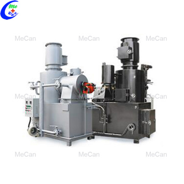 Smokeless sanitary medical waste solid incinerator