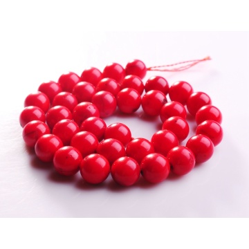 10MM Round Red Coral Gemstone Beads for DIY Jewelry