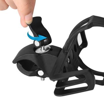 Bike Water Bottle Cages Adjustable Plastic Black