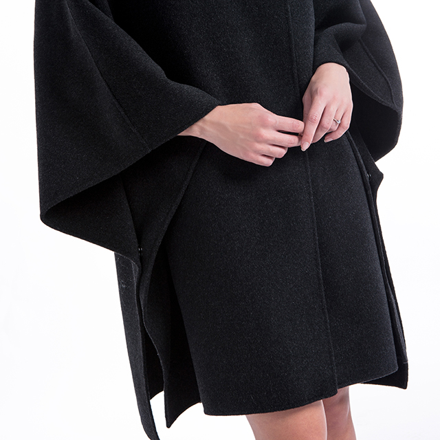Cashmere overcoat loose