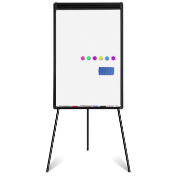 Height Adjustable Magnetic Flipchart Board with Stand