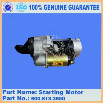 Komatsu spare parts 6D105-1Z starting motor ass'y 600-813-3650 for Electric parts