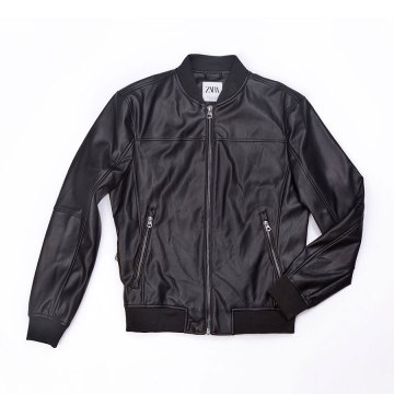 Men  PU biker jacket