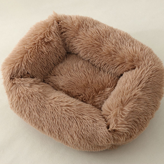 Long velvet square pet nest