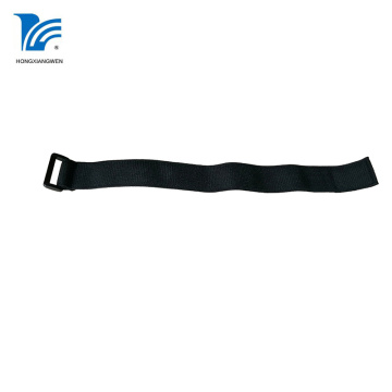 Black Elastic Hook And Loop Straps Tape
