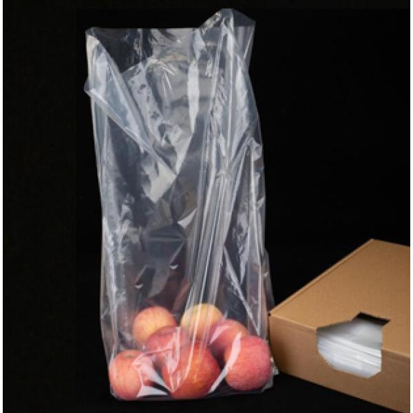 Supermarket Clear Flat Bag with Gusset in Box