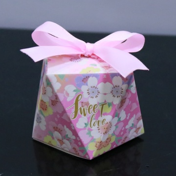 Diamond shape wedding candy and chocolate box