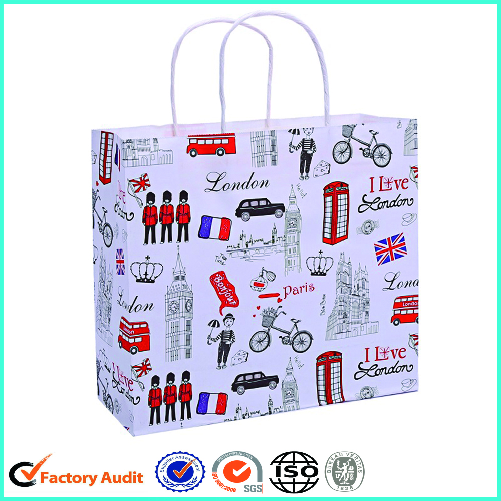 Custom Paper Bag With Logo Print For Gifts