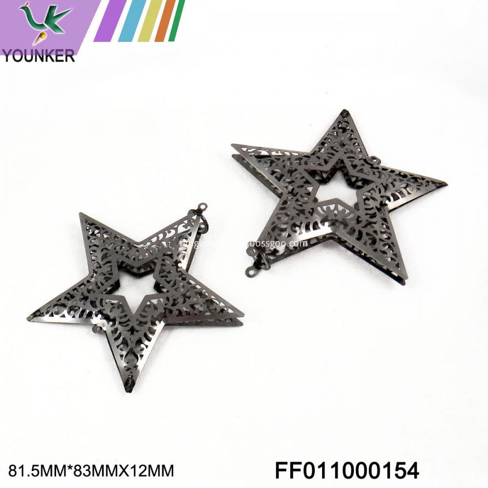 Grey Star Hang Ornament