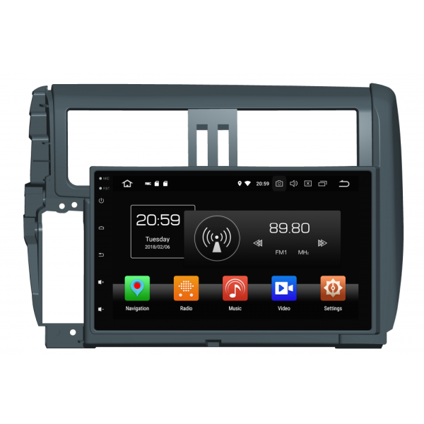 Octa core car dvd for PRADO 2010-2013