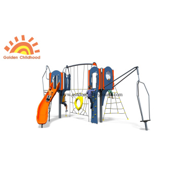 Outdoor HPL Plastic Tube Slide Playground Structure