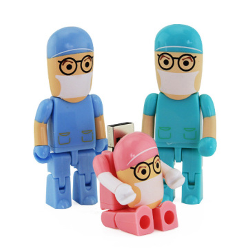 Cartoon Robot Medical USB Flash Drive Doctor Pendrive