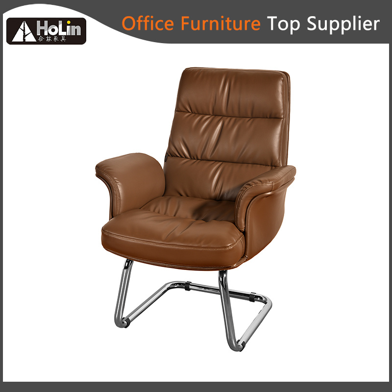 Modern Design Soft Cushion Steel Arch Footbase Home Office Chair