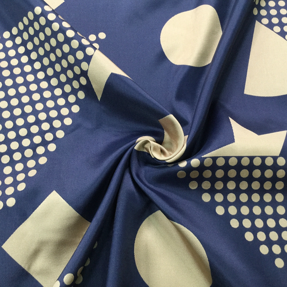 Blue Jacquard Fabric