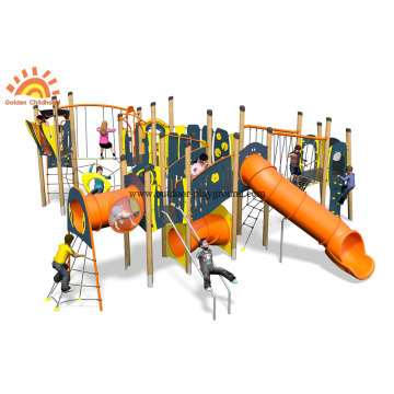 HPL Outdoor Multiply Climbing Slide Inclined Net Park