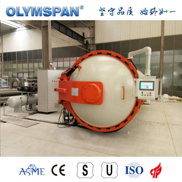ASME standard small fiber glass part autoclave