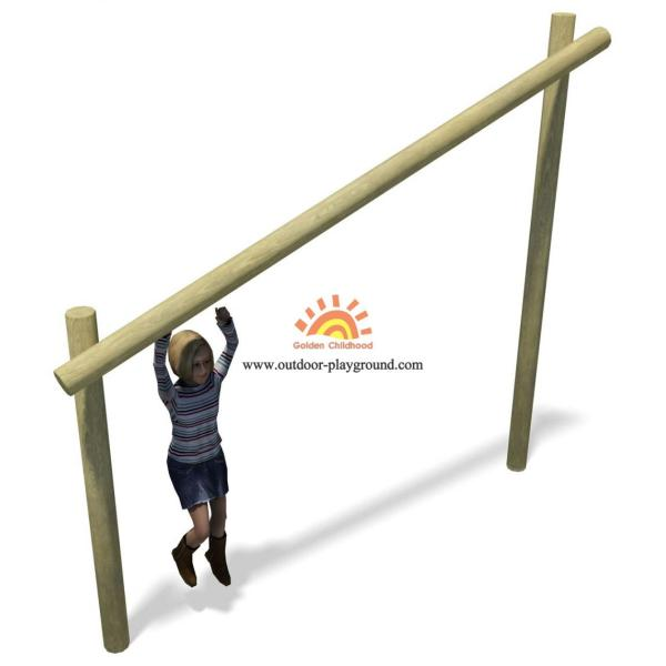 Outdoor Wooden Log Balancing HPL Playground Structure