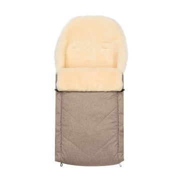 Sheepskin Baby sleeping bag footmuff