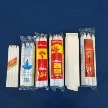 450g Mozambique Market White Fluted Household Candles