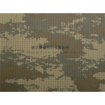 CVC Rip-stop Military Camouflage Fabric for Jacket
