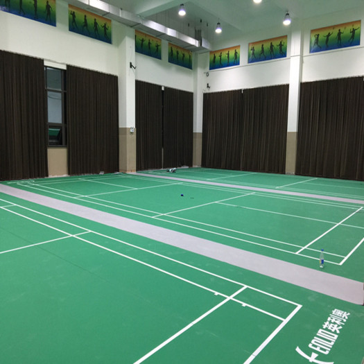 BWF Certified Rolling Cushioned PVC flooring