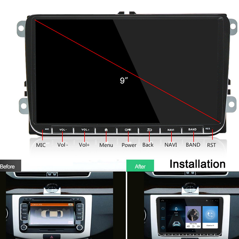 2 din android car radio for VW