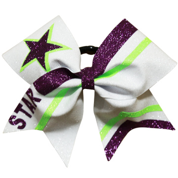 stripes college girls cheerleading bows
