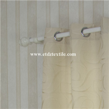 2016 New 100% Polyester Shrinkage Jacquard Window Curtain