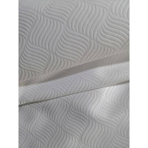polyester white and solid microfiber emboss fabric