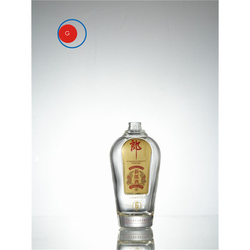 Langjiu Chinese Liquor Glass Bottle Round Shape