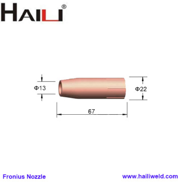 Fronius Gas Nozzle 67MM 42.001.5096 for AL3000 AW4000