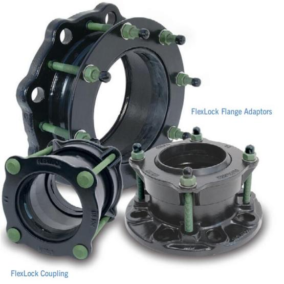 Flex lock flange adaptor