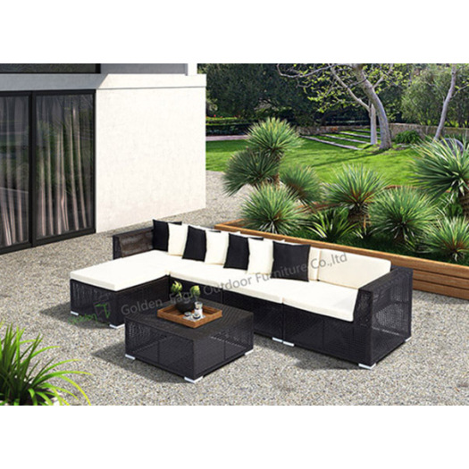 PE Rattan Sofa L Shape Sofa Set