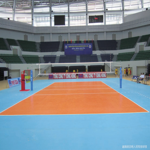 Volleyball court flooring  in the interiors