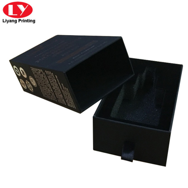 black drawer paper gift box