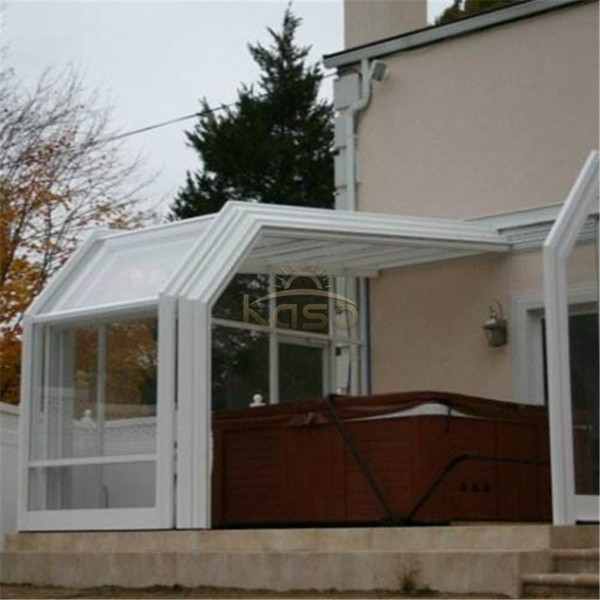 Tempered Glass Polycarbonate Material Telescopic Sunroom