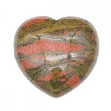 40X40X20MM Natural Unakite Stone Heart  for women Chakra healing Jewelry without hole