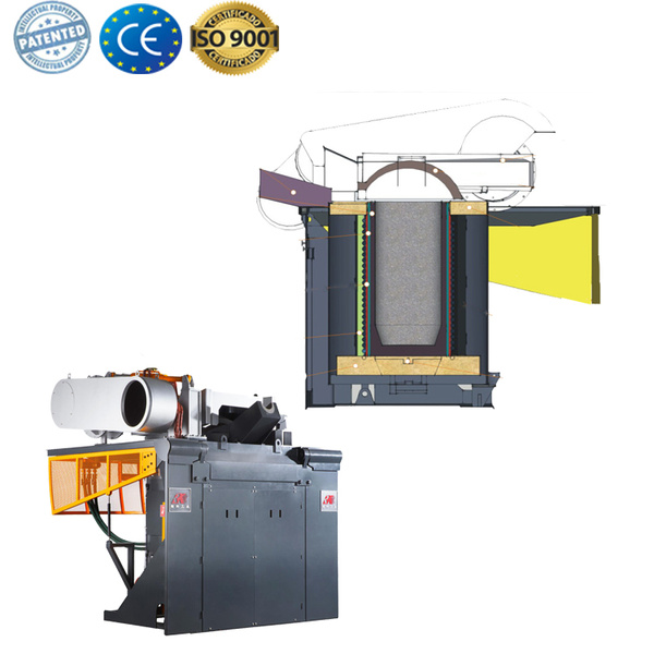 Factory price electric induction melting Furnace for gold
