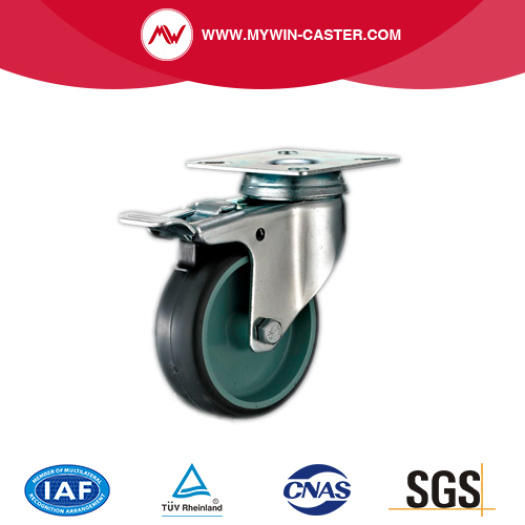 Braked Bolt Hole Swivel Grey Tpr Castors